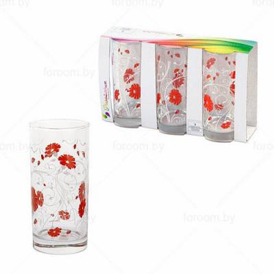Набор из 3-х стаканов 290 мл Pasabahce Serenade Red