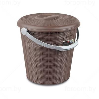Ведро для мусора 10 л с крышкой Stefanplast Elegance Line
