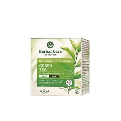Крем для лица нормализующий Herbal Care Зеленый чай на день/ночь, 50 мл.