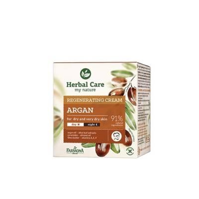 Крем для лица восстанавливающий Herbal Care Аргановое масло на день/ночь, 50 мл.