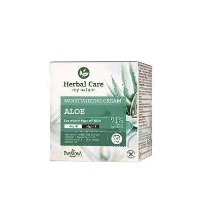 Крем для лица увлажняющий Herbal Care Алоэ на день/ночь, 50 мл.
