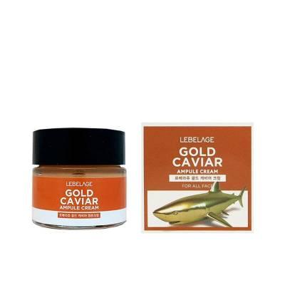 Крем для лица ампульный GOLD CAVIAR с экстракт икры питатительный  против морщин