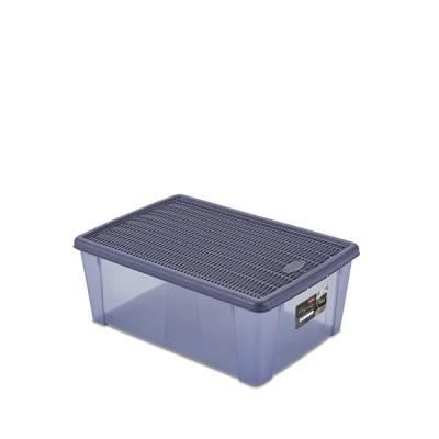 Ящик универсальный 10 л с крышкой Stefanplast Elegance Line